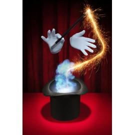 Apparition magique d'un objet sur une table