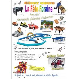 Soirée Fête foraine. Budget 3000 € HT