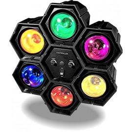 Location jeux de lumières pas cher lyon pour petites fêtes de famille - chenillard 6 spots 60 watts