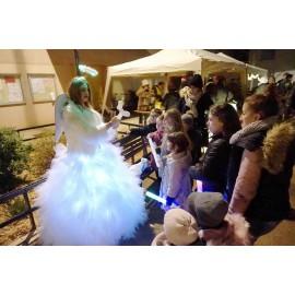 Location Robe blanche fée lumière princesse lyon