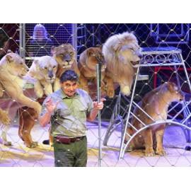 LIONS ET DOMPTEUR