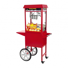 Machine à pop corn sur roulettes