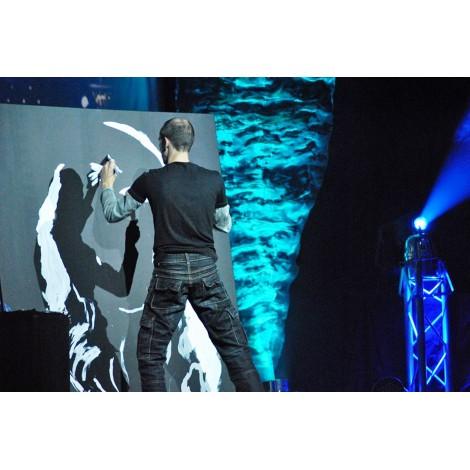performer portrait peinture-pour-evenement-entreprise
