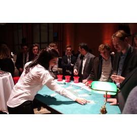 Animation soirée casino table black jack