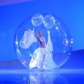 Acrobaties dans une bulle