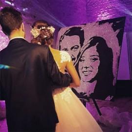 Peinture paillette mariage