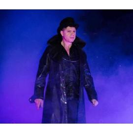 Manteau gothique simili cuir noir