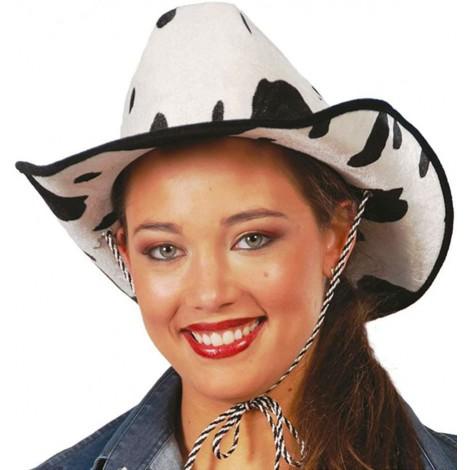 location-Chapeau coyote girls vache-noir-blanc-lyon
