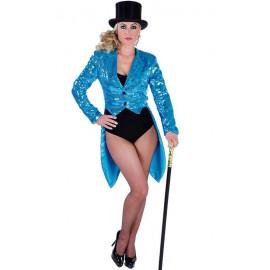 Veste Queue de Pie Bleue Brillante avec paillettes