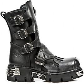 Location Chaussures New Rock Newrock 591-s2 Silver Flamme en métal Cuir Lyon