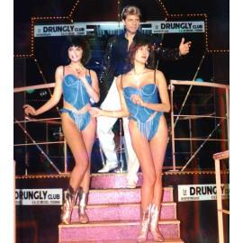 Location déguisement csotumes Claudettes Body Sexy bleu année 70 Lyon