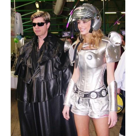 Costume Femme Pilote moto Futuriste Metal interplanétaire Lyon