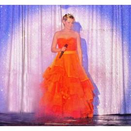 Location robe de Princesse Orange fluo unique à Lyon