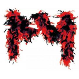 location-boa-plume-duvet-rouge-noir-lyon-pas-cher