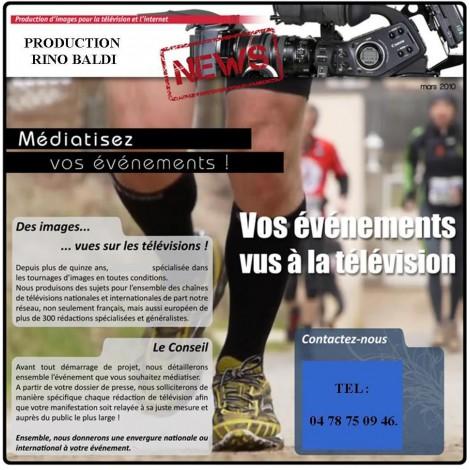 Médiatisation d'événement en TV en Rhône-Alpes- 69 Lyon