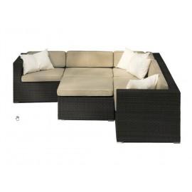 Location Fauteuil Lounge en résine tressée - chauffeuse- Canapé lounge Cosy Lyon