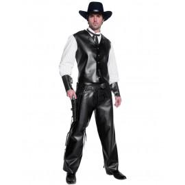 location-costume-deguisement-cow-boy-noir-imitation-cuir-far-west-western-lyon