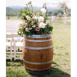 Tonneau en bois - Fût - Barrique - location-tonneau-decoration-225-litres-bois-lyon
