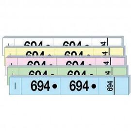 Carnet de vestiaire numérotés de 1 à 50 avec souche