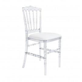 location-chaise-napoleon-cristal-lyon-avec-galette-blanche