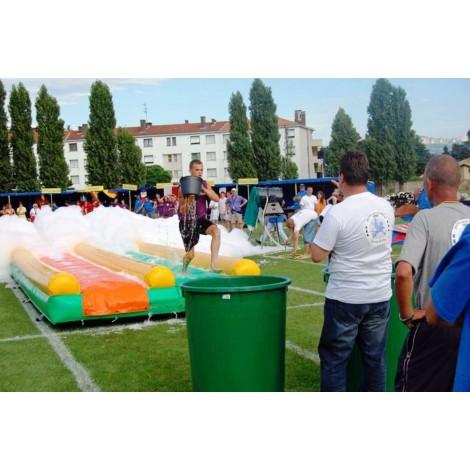 location Piste gonflable glissante Lyon - Tapis de glisse Gonflable