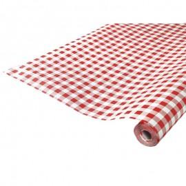 location Tissus grande largeur Rouge et Blanc à carreau esprit guinguette Lyon