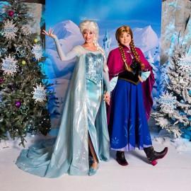 Reine des Neiges Elsa, Anna et Olaf