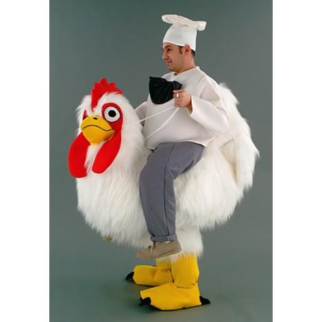 Animation pour pâques avec une poule géante