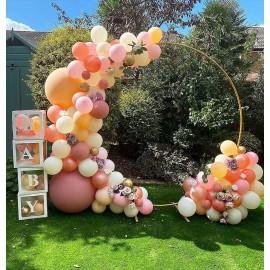 Arche de ballons organique ronde