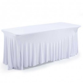 Nappe juponnage lycra blanche extensible
